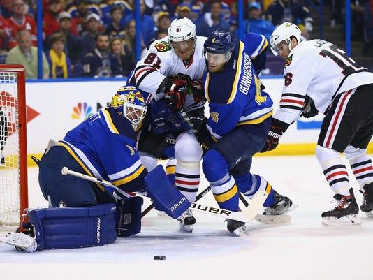 Chicago Blackhawks v St. Louis Blues - Game 2