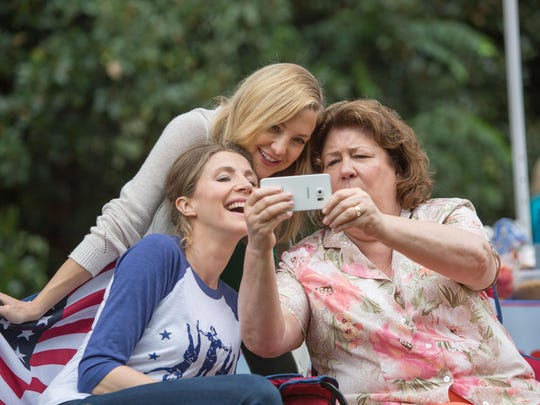 "(Left to right) Sarah Chalke, Kate Hudson and Margo Martindale in in ""Mother's Day."""