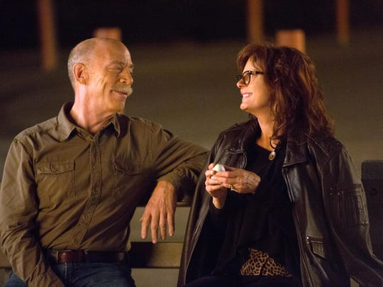 "J.K. Simmons and Susan Sarandon in a scene from ""The Meddler."""