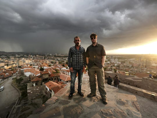 Chase Millsap, right, and The Captain, pose for a photo in Ankara, Turkey. After three tours of duty in warn-torn Iraq, including one that nearly took his life, Millsap returned to the U.S. to earn a master's degree in public policy and get on with a civilian life. For the past two years, the former Green Beret has been fighting another battle to gain political asylum for his brother in arms, a man he simply calls The Captain.