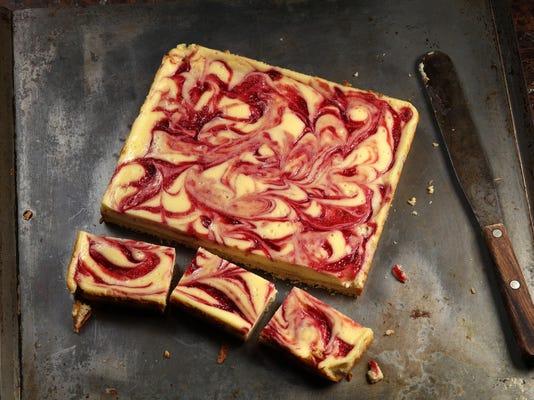Raspberry cheesecake bar recipe makes for sweet break