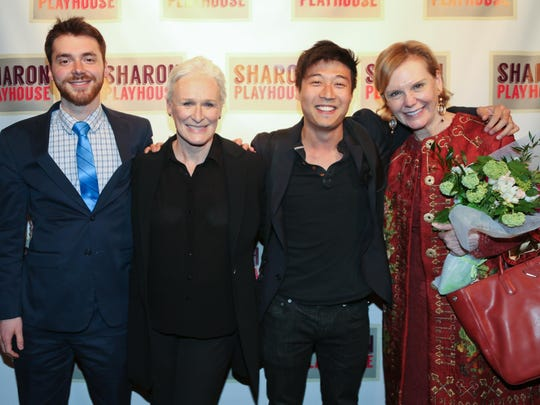 Peter Dugan, left to right, Glenn Close, Charles Yang and Terre Blair Hamlisch are shown during Sharon Playhouse's Season Benefit Gala May 21.