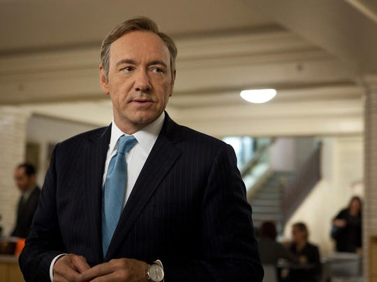 "Kevin Spacey in a scene from Netflix's ""House of Cards."""