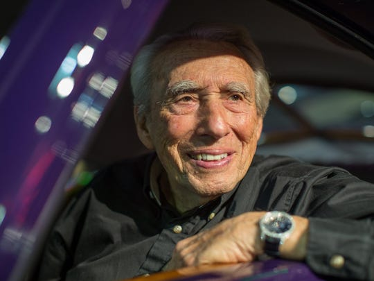 Car collector Larry Klairmont, 89, in his 1937 Rolls-Royce Phantom III Aero Coupe at his showroom in Chicago in June. Klairmont Kollections consists of over 300 cars spanning over a century of automotive history in a non-descript building on Chicago's northwest side.