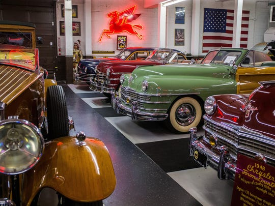 Open since 2011, Klairmont Kollections museum includes re-creations of a Packard dealership, the iconic Route 66 Cucamonga Gas Station and a classic drive-in theater featuring an array of coupes from the '50s and '60s.