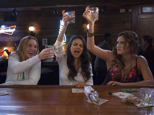 (Left to Right) Kristen Bell,Mila Kunis,Kathryn Hahn