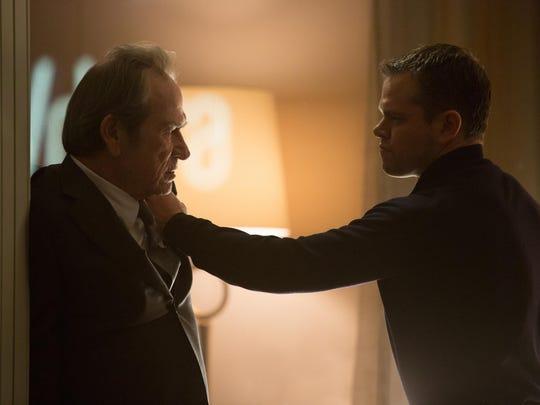 """Tommy Lee Jones (left) and Matt Damon appear in a scene from """"Jason Bourne."""""""