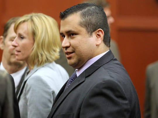 George Zimmerman leaves the courtroom a free man after being found not guilty after being charged with second-degree murder in the 2012 shooting death of Trayvon Martin.