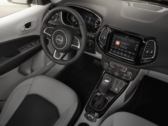 The interior of the next-gen Jeep Compass.