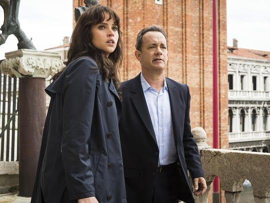 """Felicity Jones and Tom Hanks star in """"Inferno,"""" which is based on the best-selling Dan Brown novel."""