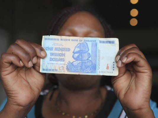 Zimbabwe 100 Trillion Dollar Notes