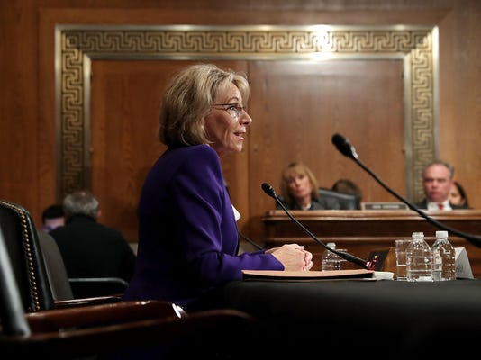Trump's Selection For Education Secretary Betsy DeVos Testifies During Her Senate Confirmation Hearing