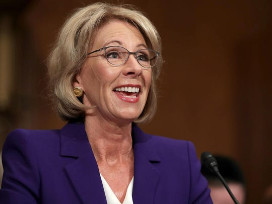 Betsy DeVos is President Donald Trump's pick to be