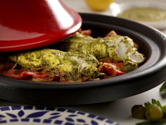 Hearty fish and veggie stew gets zing from Moroccan flavors