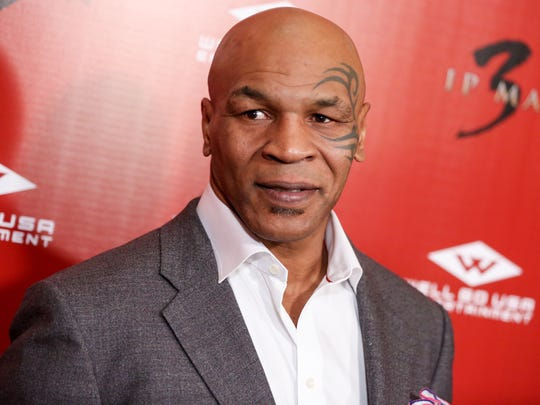 "Mike Tyson arrives at the Premiere of ""Ip Man 3"" at Pacific Theatres at The Grove on Wednesday, Jan. 20, 2016, in Los Angeles. (Photo by Rich Fury/Invision/AP)"