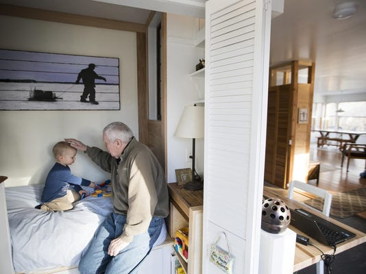My favorite room: Minn. couple create a cozy cupboard bed for grandson