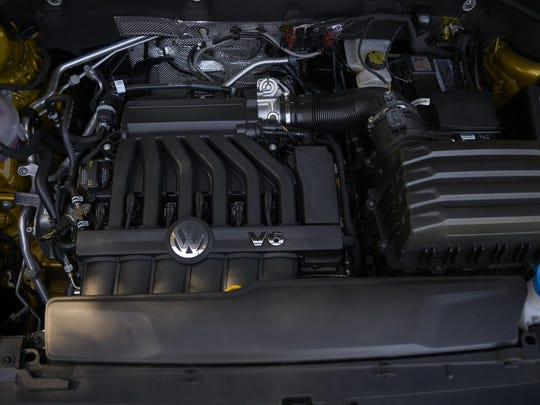 Atlas is offered with a choice of two powerful and efficient engines—a 2.0-liter turbocharged four-cylinder or an available 3.6-liter VR6 engine (shown).