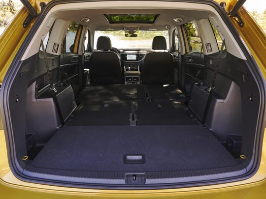 The Atlas' generous cargo area offers 20.6-cubic-foot of space with the seats up, 96.8 cubic feet with the seats folded flat.