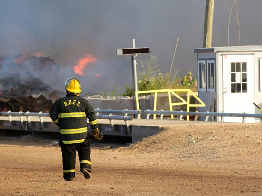 Mulch Facility Fire