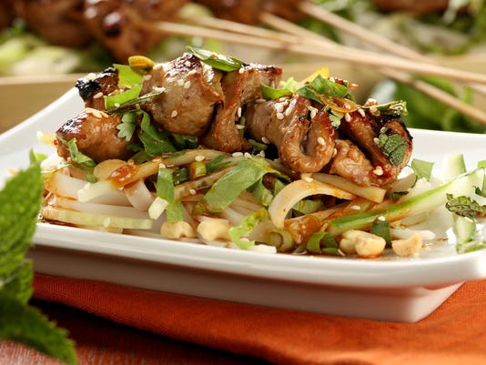 Slice, season, skewer: The secret to building flavor when grilling lean meat