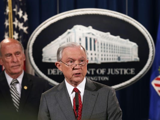 Attorney General Jeff Sessions And Intelligence Chiefs Hold Briefing On Classified Information Leaks