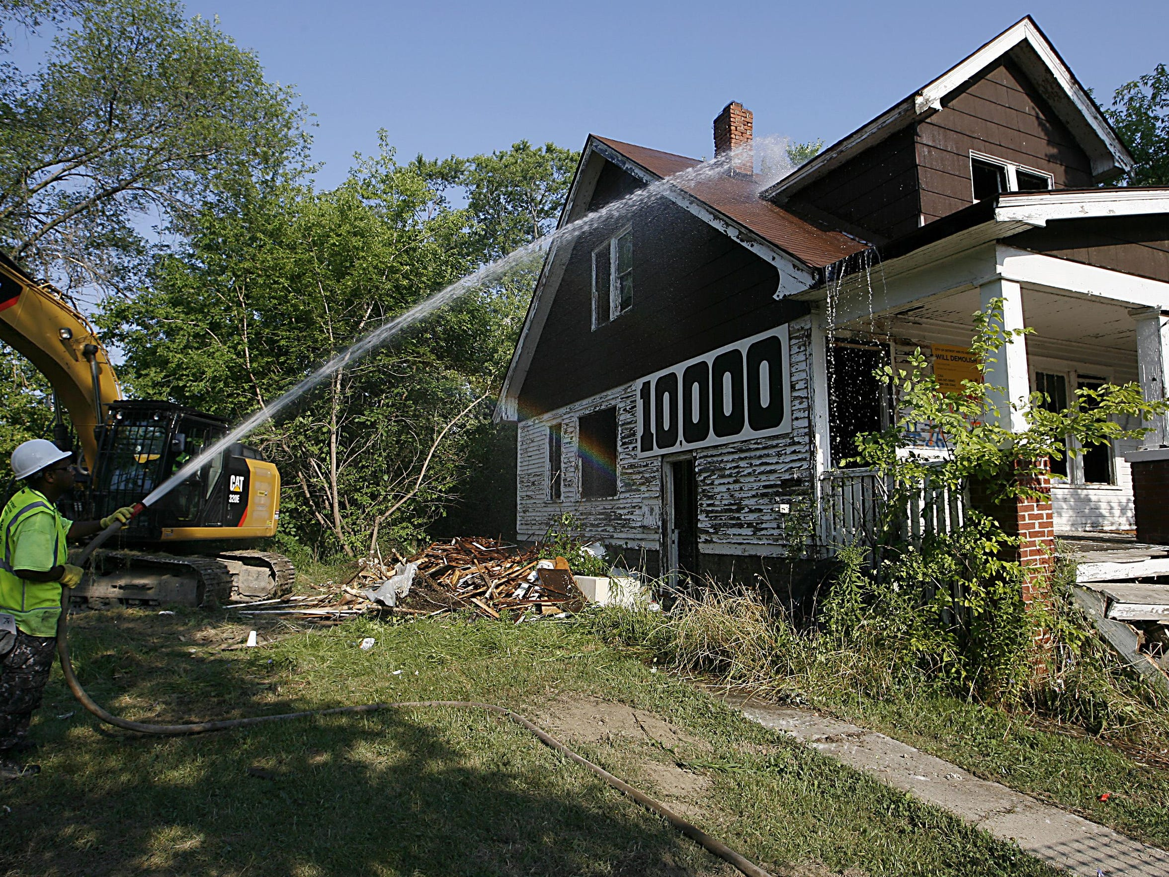 Detroit's demolition program has razed more than 16,823 blighted houses since 2014.