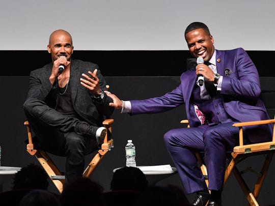 Shemar Moore, left, and AJ Calloway at the New York