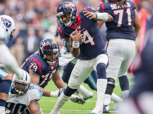 Report: Texans rookie quarterback Deshaun Watson tears ACL