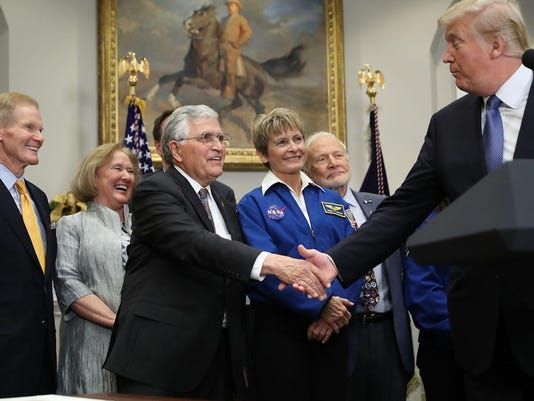 President Trump Participates In Signing Of Space Policy Directive