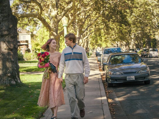 Saoirse Ronan, left, and Lucas Hedges in a scene from