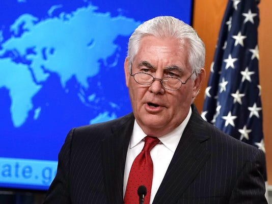 Outgoing Secretary Of State Rex Tillerson Speaks At The State Department After President Trump Fired Tillerson Via Twitter Earlier In Day