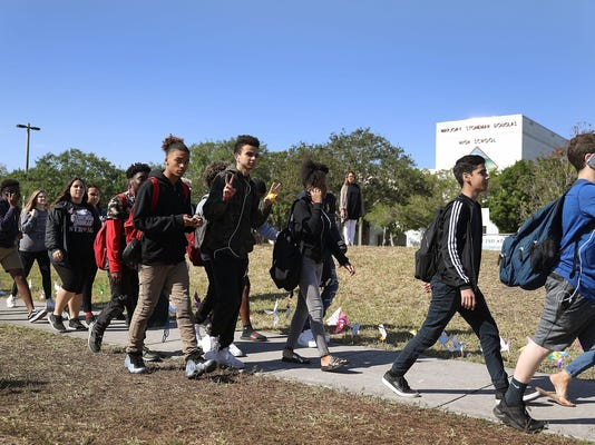 Across U.S., Students Walk Out Of Schools To Address School Safety And Gun Violence