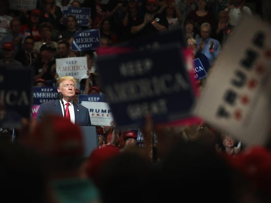President Trump Holds Campaign Rally In Elkhart, Indiana