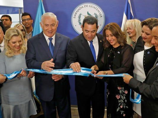 ISRAEL-GUATEMALA-DIPLOMACY-JERUSALEM