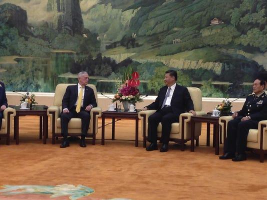Jim Mattis, Xi Jinping