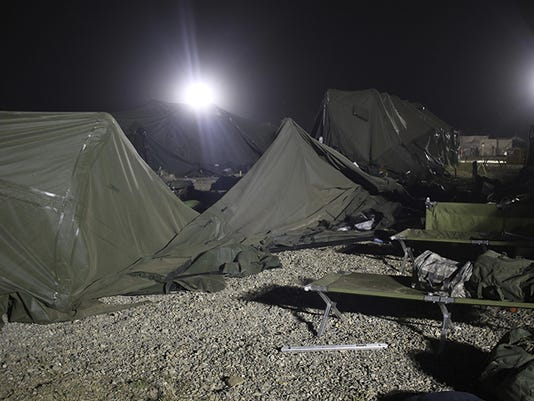Military Base Tent Collapse