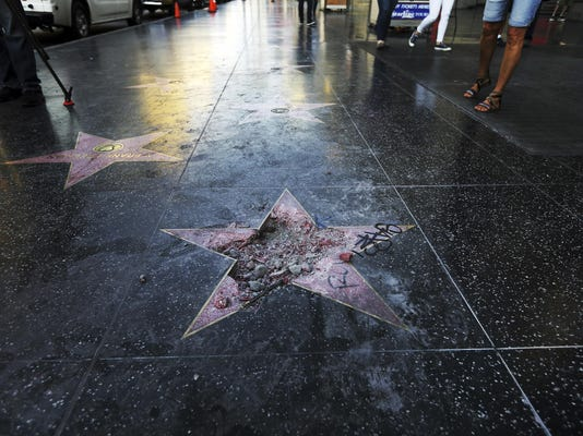 Not Real News Trump Star Vandalized