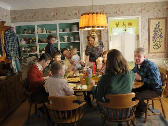 """""""The Kids Are Alright,"""" starring Mary McCormack, standing center, and Michael Cudlitz, seated right, premiering Oct. 16."""