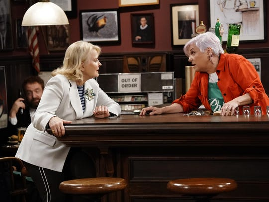 This image released by CBS shows Candice Bergen, left,