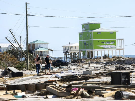 In Cape San Blas, Fla., a wary walk to find out what Hurricane Michael left behind