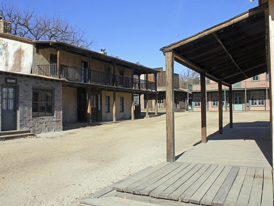 This Dec. 13, 2015 photo shows Paramount Ranch, a frontier western town built as a movie set that appeared in countless movies and TV shows, in Agoura Hills in Southern California.
