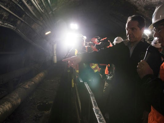 Cuomo is touring the North River Tunnels