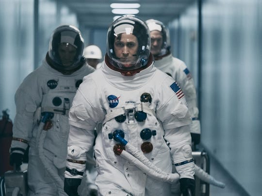 "Ryan Gosling in a scene from ""First Man."" Damien Chazelle's"