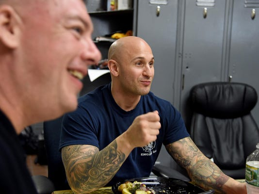 Family meals in Philly firehouses are filled with sirens, bells and bonding