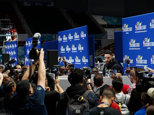 2019 NBA All-Star Rising Stars Practice and Media Availability