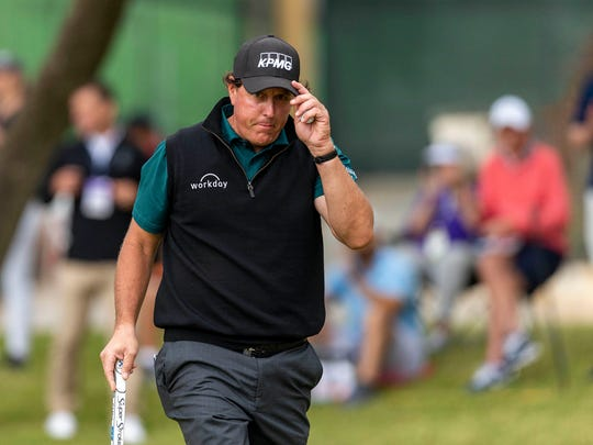 Phil Mickelson won his final match Friday but was eliminated in the WGC-Dell Technologies Match Play tournament.