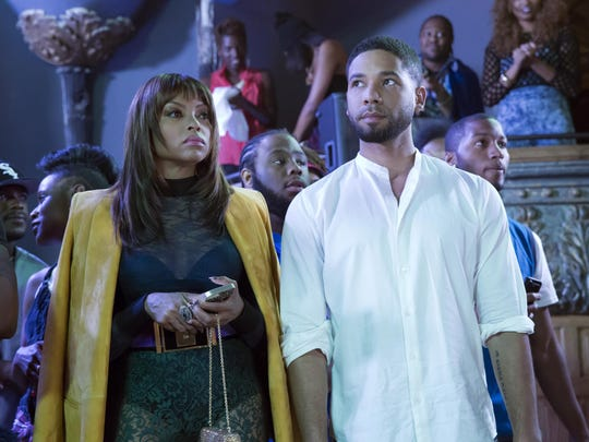 "This photo provided by Fox shows, Taraji P. Henson, left, as Cookie Lyon and Jussie Smollett as Jamal Lyon in the ""My Bad Parts"" episode of the television series, ""Empire."""