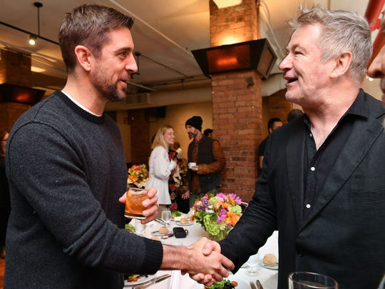 Aaron Rodgers attends the 2019 Tribeca Film Festival Jury Lunch at Tribeca Grill Loft on April 25, 2019 in New York City. (Photo by Dia Dipasupil/Getty Images for Tribeca Film Festival)