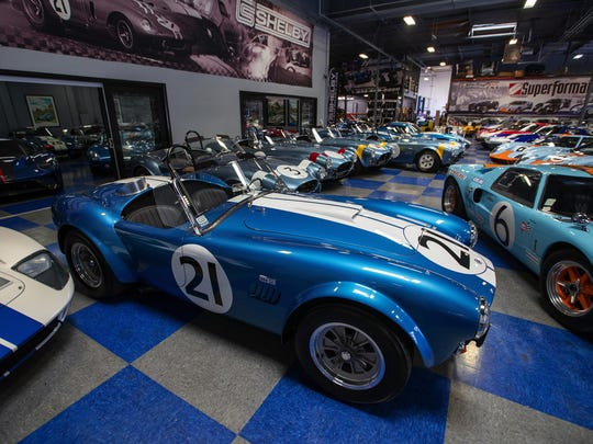 A CSX7000 series continuation 1964 Shelby FIA Cobra at Shelby Legendary Cars in Irvine.