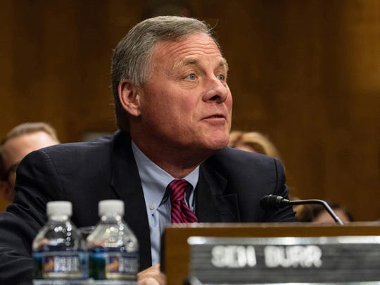 """Sen. Richard Burr (R-N.C.) during a Senate Foreign Relations Committee hearing on Capitol Hill in Washington, D.C., on April 12, 2018. Burr sold up to $1.5 million in stocks in mid-February, weeks before he warned a private group that the coronavirus was """"akin to the 1918 pandemic"""" and warned it to rethink European travel. (Cheriss May/Sipa USA/TNS)"""